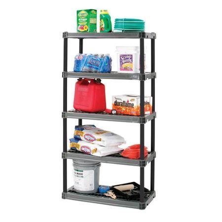 5 Shelf 18x36in- Grey Ideal for Cleaning Products, Grill Accessories, Tools and Other Items by Plano
