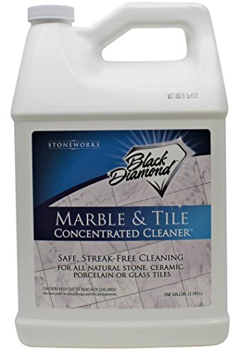 Black Diamond Stoneworks MARBLE & TILE FLOOR CLEANER. Great for Ceramic, Porcelain, Granite, Natural Stone, Vinyl and Brick. No-rinse Concentrate. - Natural Marble Tile