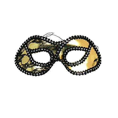 Decorated Gold Masquerade Mask by Century Novelty