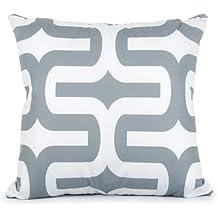 Dyg Smart Topfinel Geometric Cushion Cover Cheap Grey Pillow Covers for Puff Sofa Seat Chair Velvet Decorative