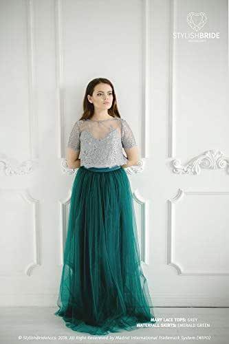 Amazon.com: Mary Emerald Green Pistachio Lace Dress, Long