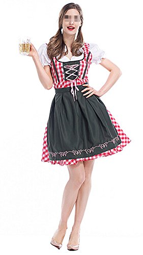 Women's Oktoberfest Lederhosen Costume Bar Maid Cosplay Costume Dresss x-Large