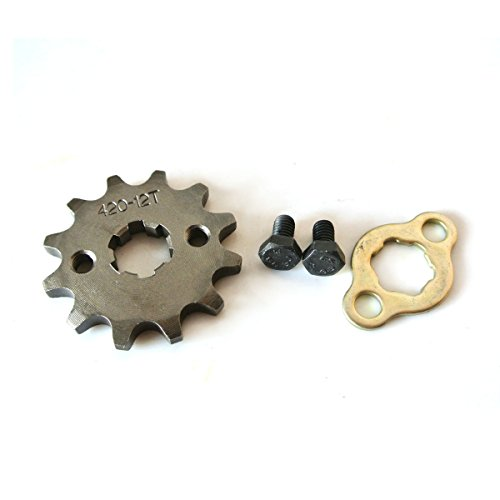 (Sthus 420 12T 17mm Front Engine Sprockets Fits Chinese ATV Quad Pit Dirt Monkey Bikes)