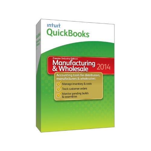Intuit QuickBooks Manufacturing and Wholesale 2014: Premier Industry Edition (1 User) [Old Version]