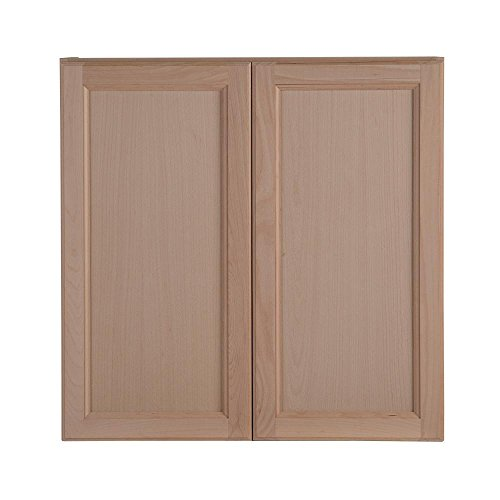 Hampton Bay Assembled 30 in. x 30 in. x 12.62 in. Easthaven Wall Cabinet in Unfinished German Beech ()