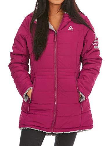Reebok Women's Reversible Monkey Fleece Active Jacket, Sangria, M
