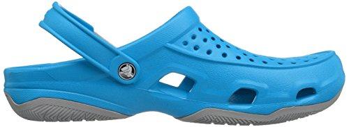 Crocs Swiftwater Deck Clog M Ocn/LGR, Zoccoli Uomo Blu (Ocean/Light Grey)