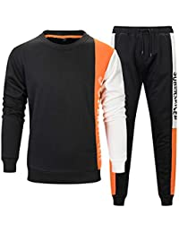 Men's Pullover Tracksuit Athletic Sports Casual Sweatsuit