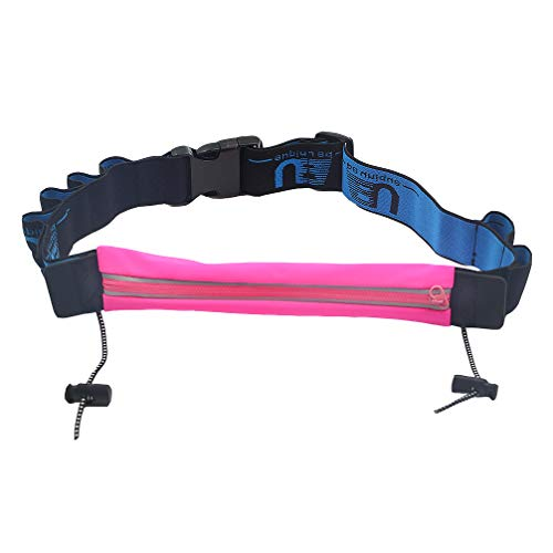 Luwint Marathon Waist Bag Race Belt - Waterproof Running Number Waistband for Men Women Youth (Pink)
