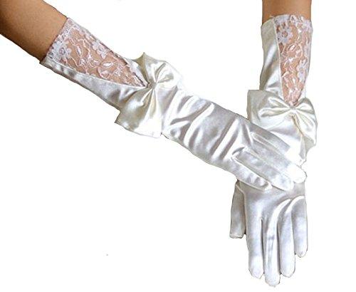 包帯人里離れた劇場セクシーグローブ (手袋) 白 ウエディング