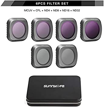 for DJI Mavic 2 Pro Lens Filters Neutral Density ND4+ND8+ND16+ND32+UV+CPL Drone Filter Set Glass Professional Lens Protector Accessories ND4//ND8//ND16//ND32//MCUV//CPL