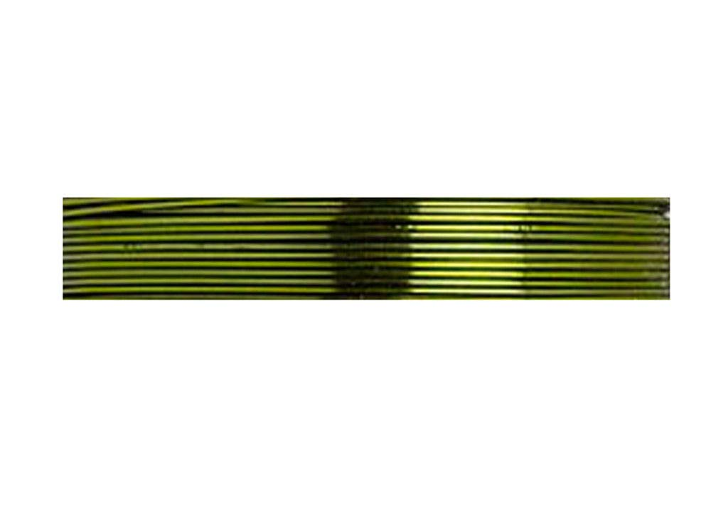 Zebra Coated Copper Wire Lime 24 Gauge 20 Yards
