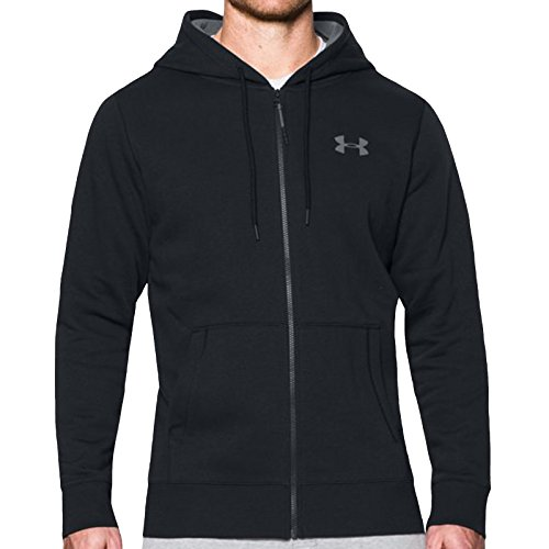 Under Armour Storm Rival Cotton Full Zip Training Top - SS17 - Medium - Black