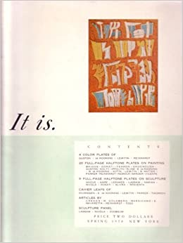 It Is A Magazine For Abstract Art Issue 1 Spring 1958