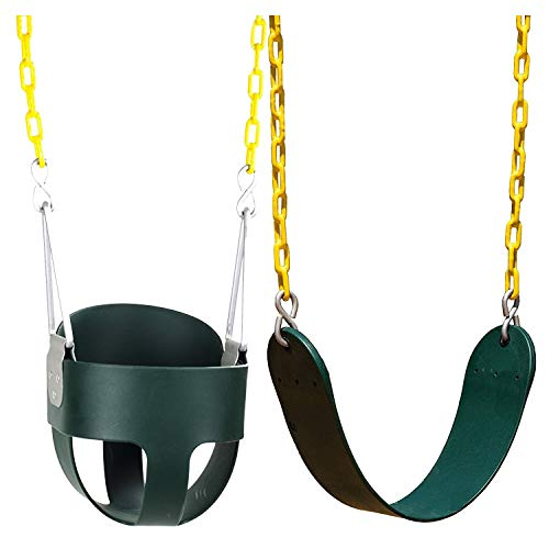 (Squirrel Products High Back Full Bucket Swing and Heavy Duty Swing Seat - Swing Set Accessories)