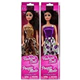 """JU Girls Kids Toddlers Child (Bonus Lisa The lappy Pen) Indoor Play Dress Up Fashion Doll 11"""" Collectibles Party Favors Supply Gifts Stocking Stuffers (2) Dolls Bundle"""