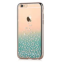 iPhone 6s Plus & iPhone 6 Plus Case ,Comma Brand Cystal Polka Dot Design Case for Iphone 6 PLus ,Very Beautiful Design , Case Is More Beautiful Than Photo (Rose Pink)