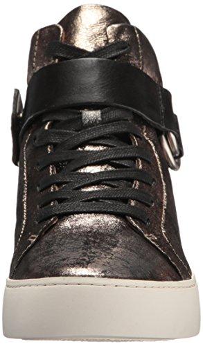 Frye Womens Lena Imbracatura Alta Moda Sneaker Oro / Pelle Metallizzata