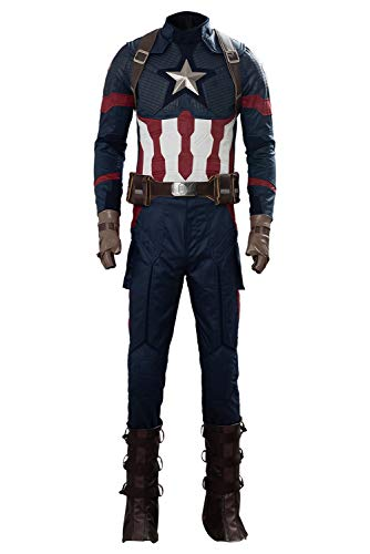 Mutrade Mens Captain Cosplay Costume Halloween Adult Super Outfits,Style2,Medium]()