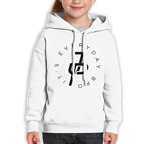 Addie E. Neff Pullover Team 10 Ten Jake Paul It's Every Day Boys,Girls,Youth Hipster Sweatshirt Pocket Hoodie M White by Addie E. Neff