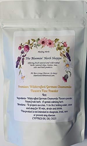 Wildcrafted German Chamomile Flowers Dried Powder | 4oz | USA | Tea | Fine powder Aromatic Potent | White Label Herbs | ()