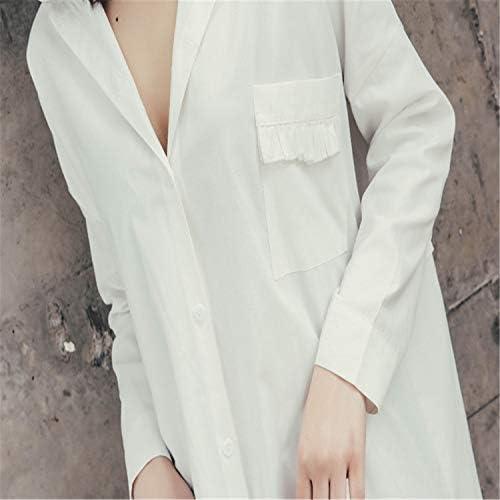 BABIFIS Camisón de Verano Camisa Blanca de Las señoras Sexy ...