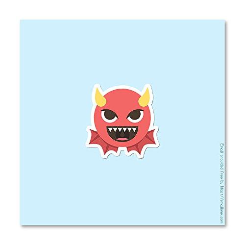 Imp Devil Smiley Emoji - Vinyl Decal Sticker - 4