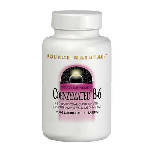 Coenzymated B-6 Sublingual, 25 mg, 30 Tabs by Source Naturals (Pack of 6)
