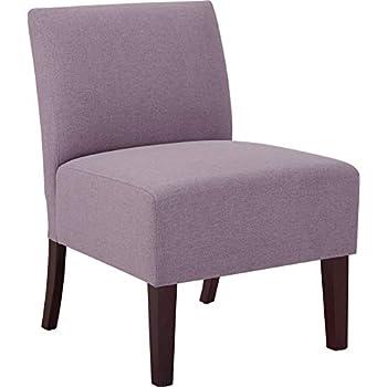 Amazon Com Modern Armless Slipper Accent Chair Fabric