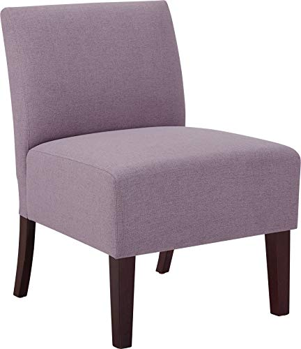 Modern Armless Slipper Accent Chair Fabric Upholstered Single Sofa Living Room Furniture, Purple