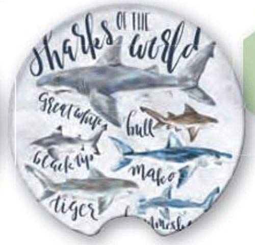 Coasting & Hosting Great Finds Absorbent Car Coaster Sharks of the World CHC109