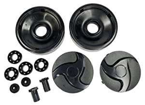 Hayward AX6009BBK Negro las ruedas traseras con rodamientos, frutos secos y tapacubos