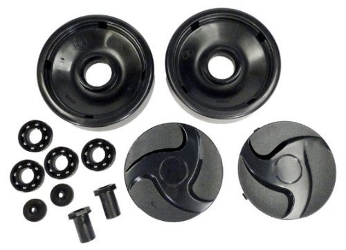Hayward AX6009BBK Black Rear Wheels with Bearings, Nuts and Hubcaps Replacement for Select Hayward Pool