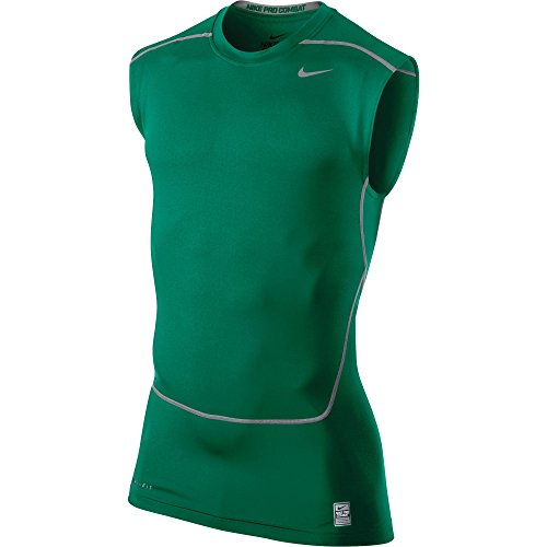 Nike Men's Core 2.0 Sleeveless Compression Training Shirt-Dark Green-2XL