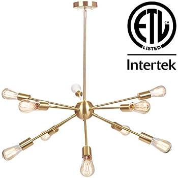 Amazon.com: Moderna lámpara de araña Sputnik de 10 luces ...