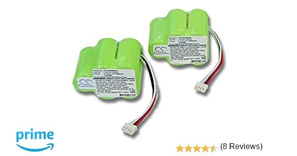 vhbw 2x Baterías Ni-Mh 3300mAh (6V) para aspirador Ecovacs Deebot D62, D63, D65, D73, D73n, D76, D77, D79 reemplaza 945-0006, 945-0024, 205-0001.
