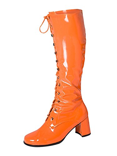 Go Women's Go Orange Boots Eyelet Knee Lace High Up qwxXHRwF