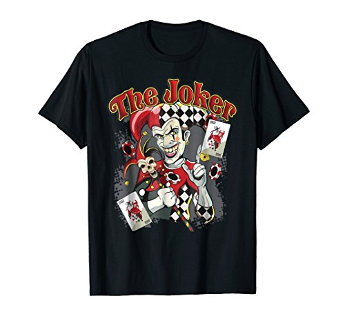 The Joker Wicked Jester Poker Gambling Card Player T -