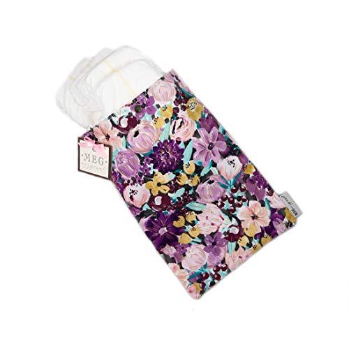 MEG Original Baby Diapers & Wipes Holder { Purple Peony } Floral Print