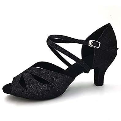 Purifit Womens SH1159 Latin Black Size: 7