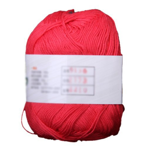 50g Tencel Bamboo Cotton Yarn For Baby (Watermelon Red) - 1