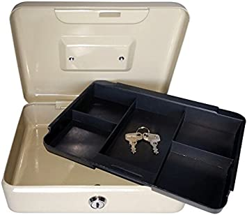 Cash Box 674- Caja fuerte de caudales metálica, cerradura 2 llaves, portamonedas, pequeña y portatil, varios colores: Amazon.es: Bricolaje y herramientas