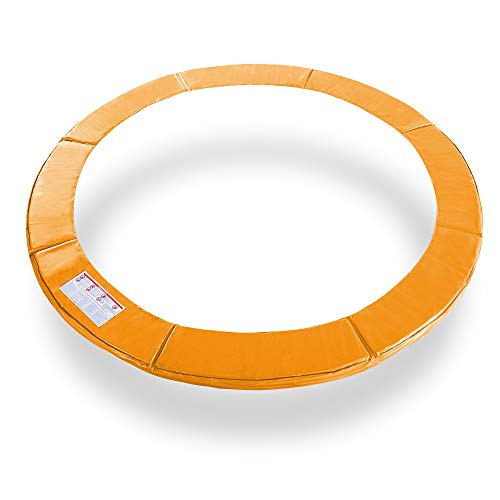 Exacme 12 Feet Trampoline Replacement Safety Spring Cover Round Frame Pad Without Holes, Orange