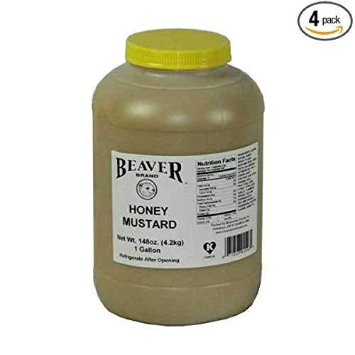 Beaver Honey Mustard, 9.25 Pound -- 4 per case.