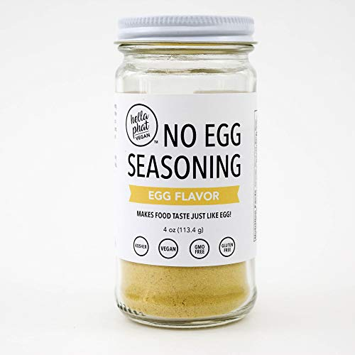 Hella Phat Vegan Egg Flavour Seasoning Mix - All Natural Vegan Eggs Replacer / Substitute - Plant Based, Non Dairy, Gluten Free - Sprinkle over Tofu Scramble, Breakfast Food, Popcorn or other Foods. 1
