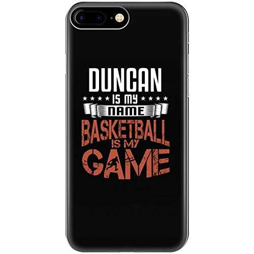 DUNCAN My First Name Basketball My Game Fan Player - Phone Case Fits iPhone 8 Black -
