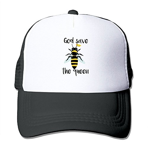 HHNYL God Save The Queen Bees Mesh Snapback Trucker Hats Baseball (Queen Trucker Hat)