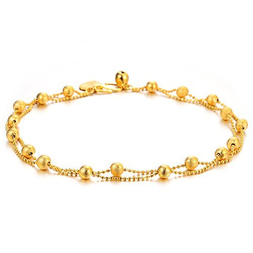 solid inch amazon gold bracelet com claddaugh dp anklet long ankle