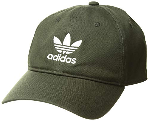 adidas Originals Men's Relaxed Strapback Cap, Night Cargo/White, ONE SIZE (Mens Strapback Hats)