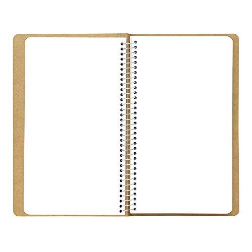 Tan Spiral Ring Notebook Mukei Northern Polar Bear Pattern